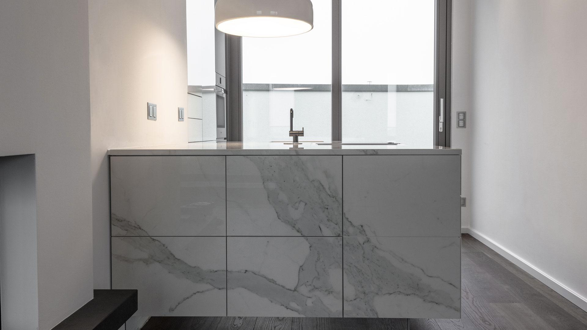 Wohnkche Mit VidroStone Keramik BHM Interieur Projekte