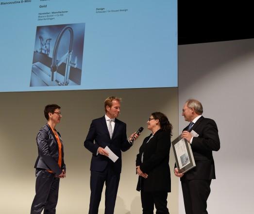 Brigitte Ziemann, Leitung Konzept und Design bei Blanco (2. v. re.), bei der Preisverleihung im Oktober in Ludwigsburg.
