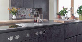 Bora Professional Kochfeld, stilvoll eingelassen in metallic schimmernder Keramik von VidroStone