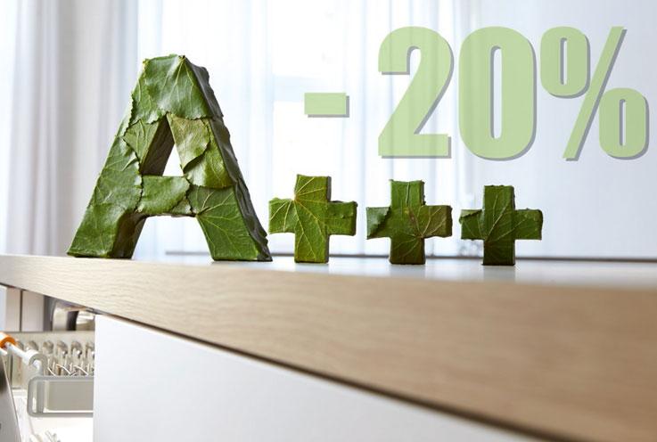 Mit Energieeffizienz A+++ - 20%* ist Miele nicht nur unschlagbar in puncto Nachhaltigkeit. Sie sparen zudem Tag für Tag beim Verbrauch.