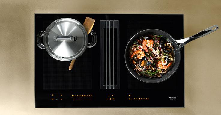 miele twoinone die neue freiheit beim kochen b hm interieur. Black Bedroom Furniture Sets. Home Design Ideas