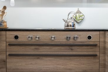 Perfekt in Front integrierte Bedienleiste für das Kochfeld Bora Professional