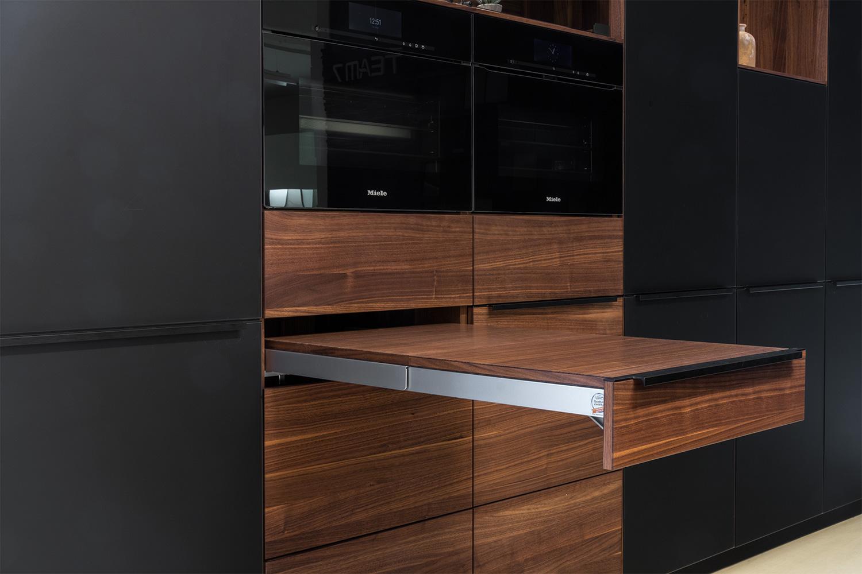 team 7 linee k7 nussbaum b hm interieur abverkauf. Black Bedroom Furniture Sets. Home Design Ideas