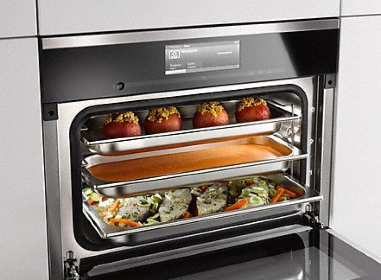 Garen auf 3 Ebenen - Zeit und Energie sparen: Gleichzeitig Fisch, Gemüse oder Fleisch garen und das volle Geschmacksergebnis genießen.