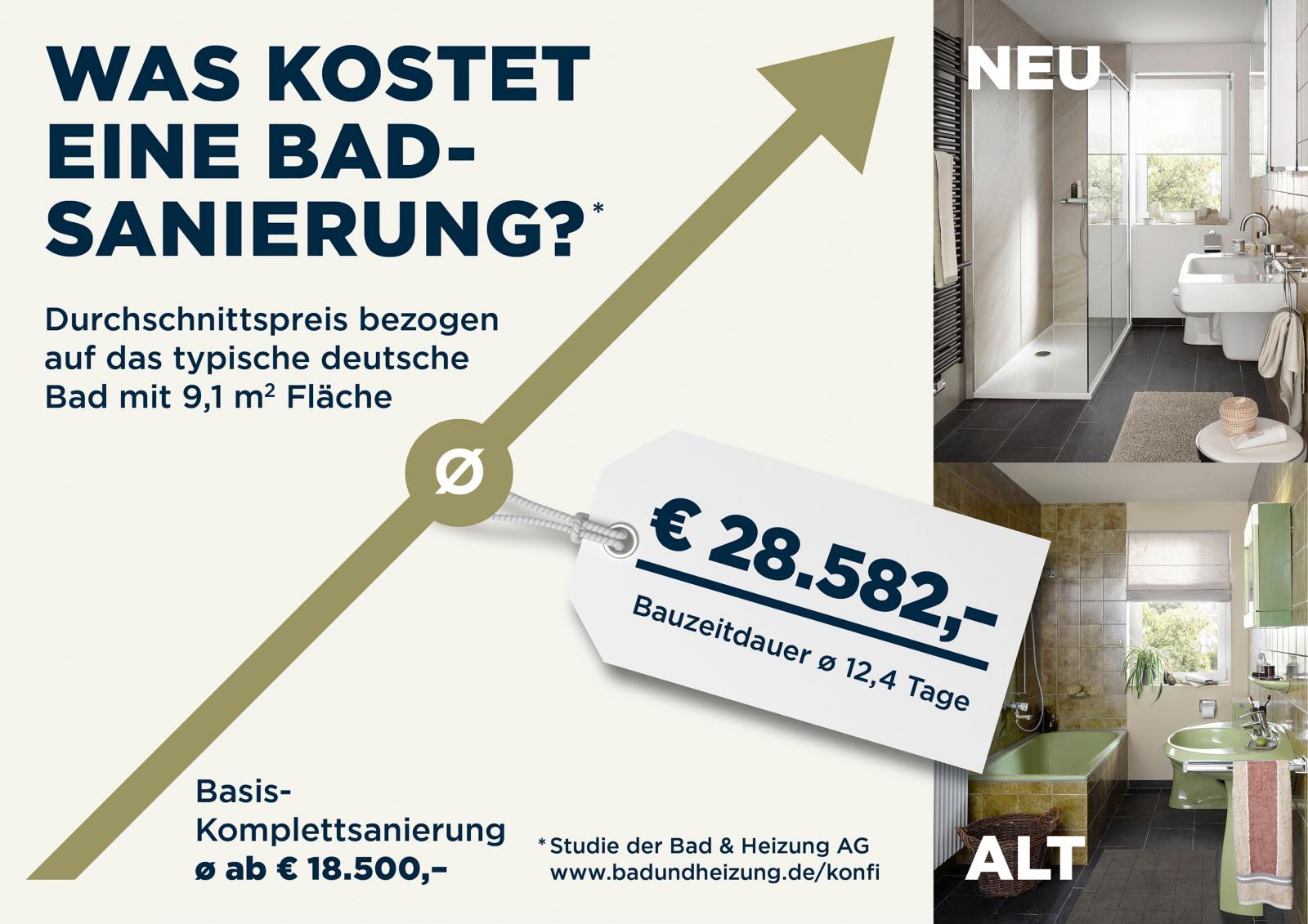 Häufig 9,1 m² Badsanierung kosten 28.582 Euro – BÖHM Interieur OF34