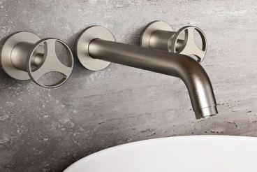 Graff Edelstahl Badezimmer Armatur E-11430, Harley Davidson Serie, Waschtischarmatur mit Progressivkartusche