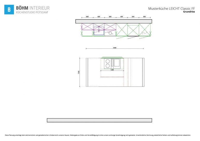 Grundriss - LEICHT Küchen - Classic-FF