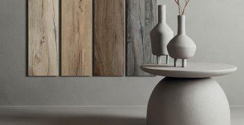 Feinsteinzeug in Holzoptik: Kollektion Dakota vom italienischen Hersteller Flaviker